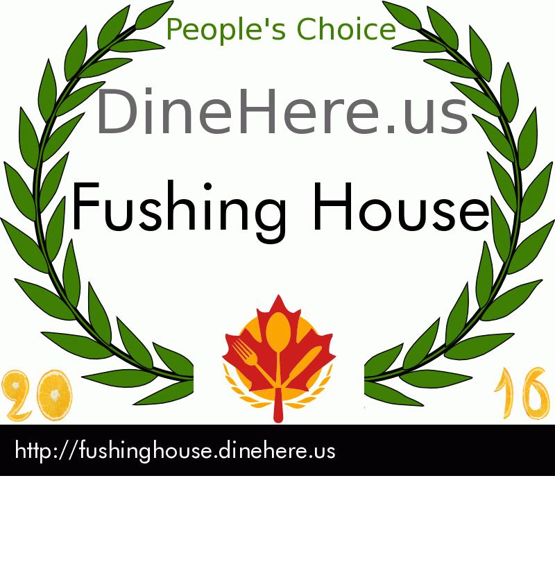 Fushing House DineHere.us 2016 Award Winner